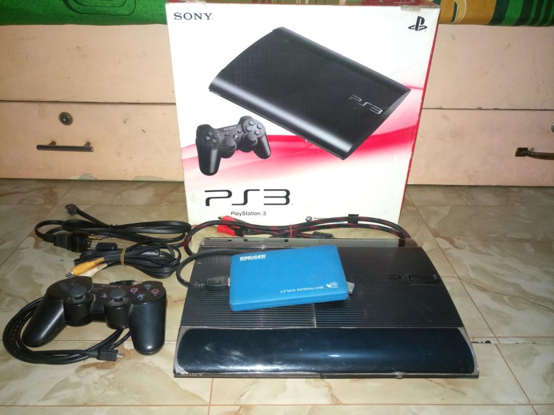 PS 3 slim 500GB + Hardisk 320GB full game