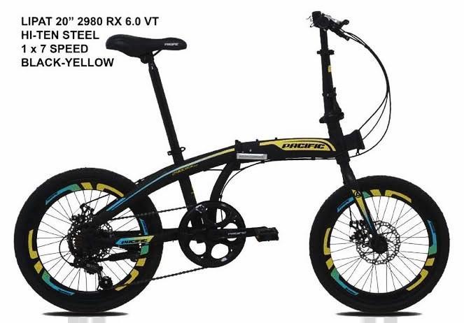 Sepeda lipat Pacific 2980 RX 6.0 VT DISC