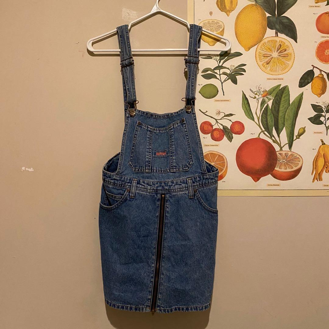 Squeeze Jeans Skort Overalls with a Front Zip   Blue   Size Girl's 9/10