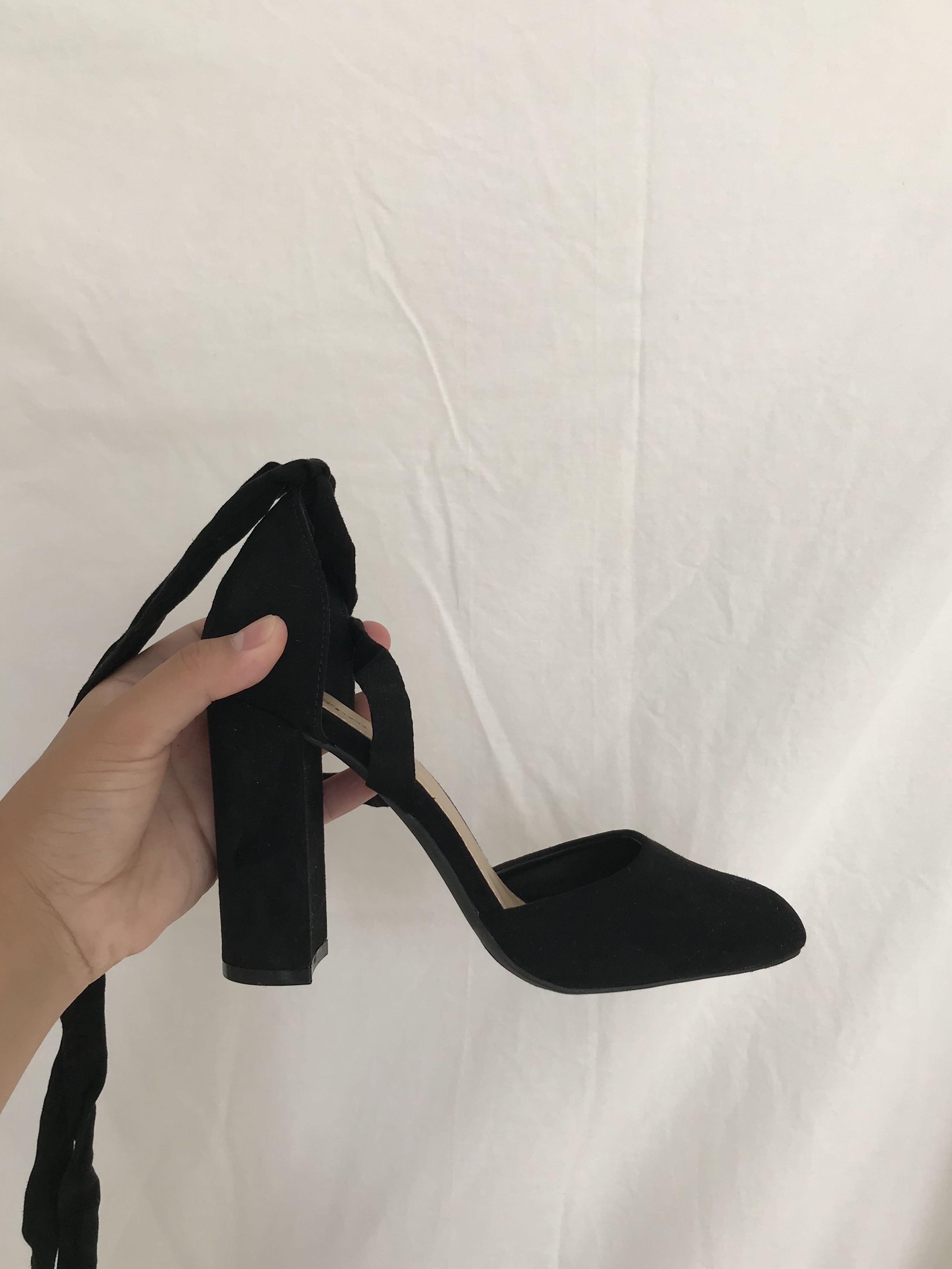 Strappy Velvet Heels