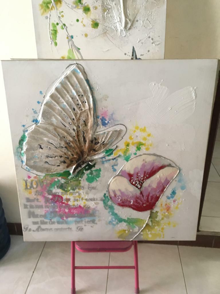 3D canvas butterfly