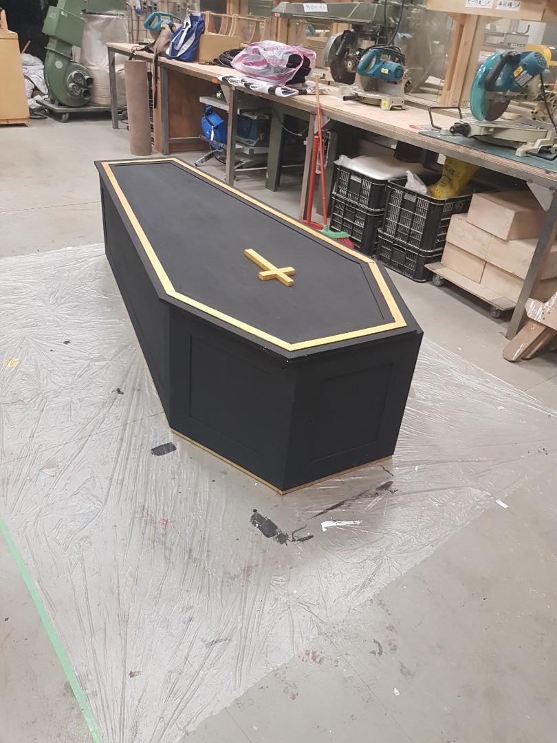 手作棺材道具 舞台大道具