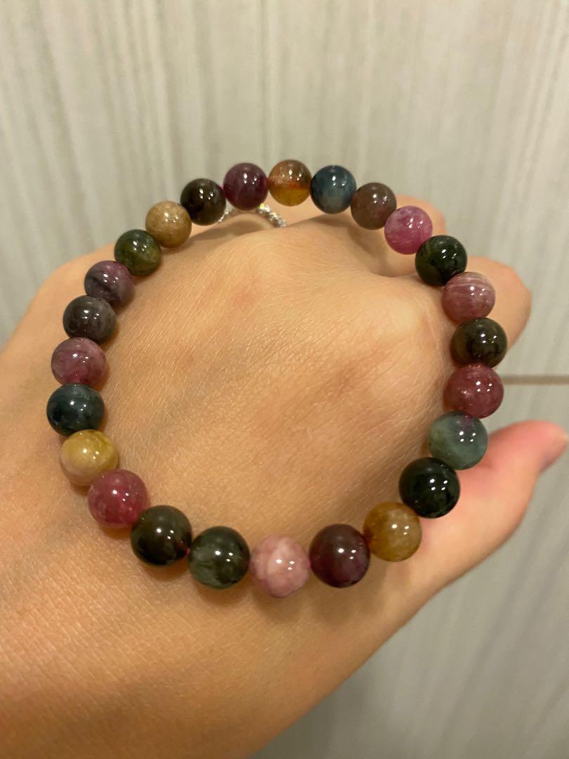 療癒水晶 能量寶石💎碧璽 手珠