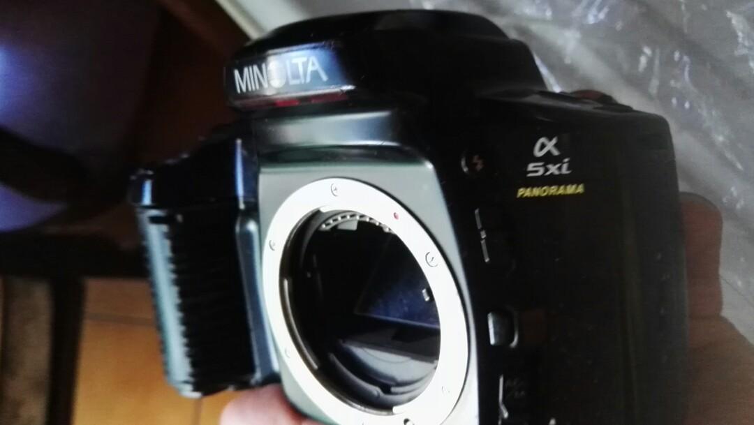 底片 單眼相機 minolta 5xi 無電池
