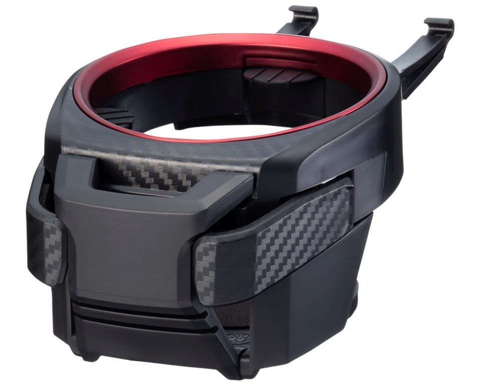 權世界@汽車用品 日本SEIKO 碳纖紋紅框 多功能冷氣孔飲料架 置物架 手機飲料架 EB-212