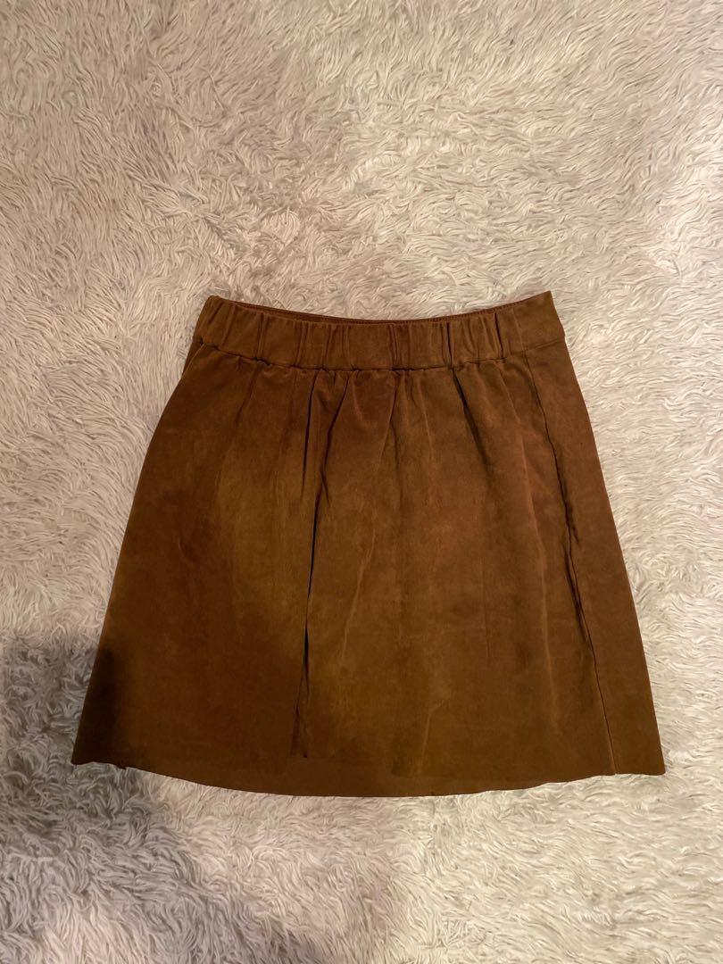 Aritzia Wilfred Free Nescher Suede Skirt | Brown | Size XS