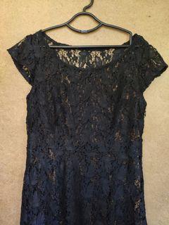 Black Lace See Through Dress