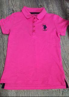 Brand New Girls' U.S. Polo Assn. Polo Tee. Size: 8/10