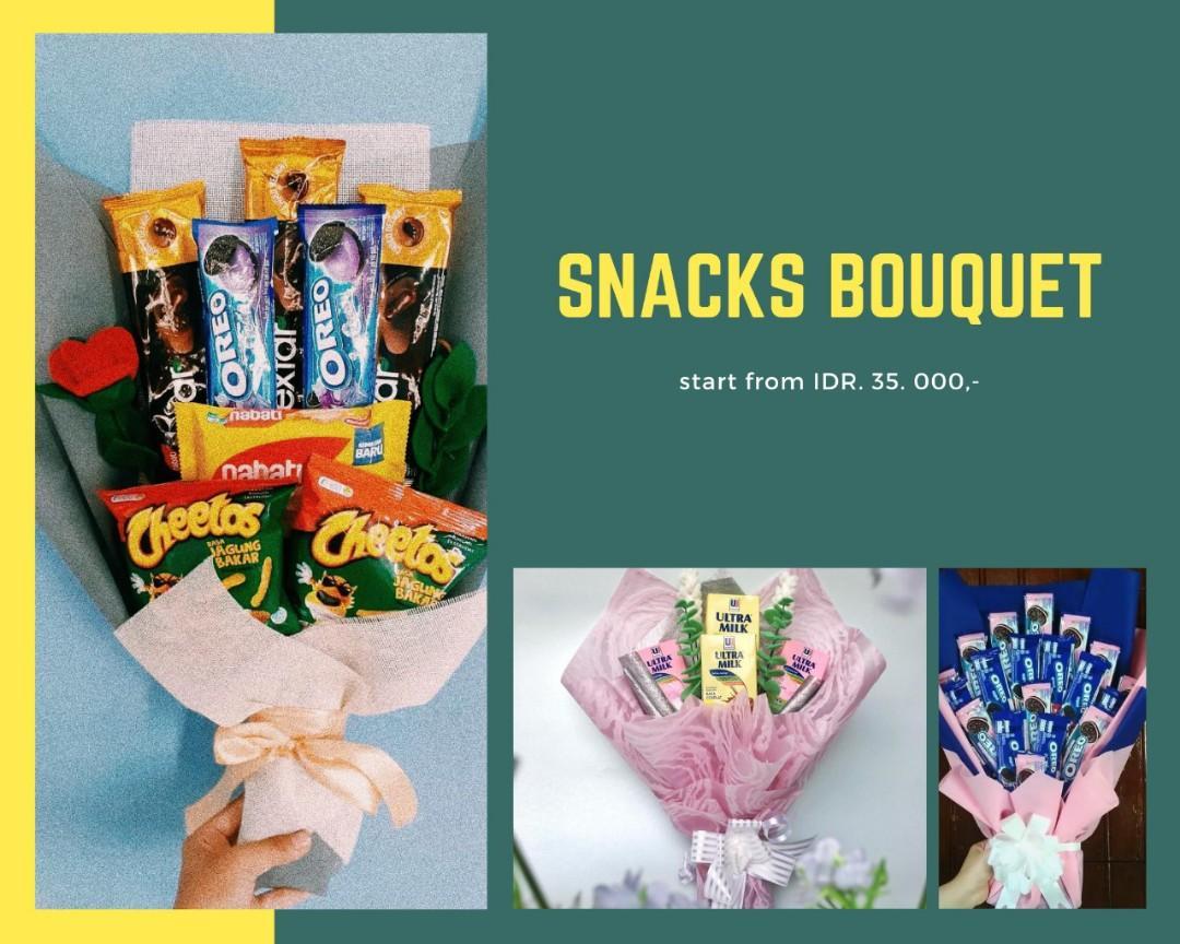 bucket snack/buket bunga