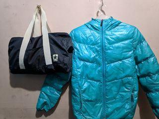 Converse Bundle Down Puffer Jacket Duffle Bag