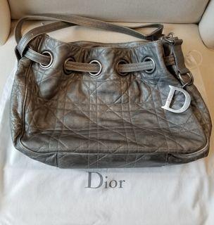 DIOR Cannage Drawstring Tote Bag