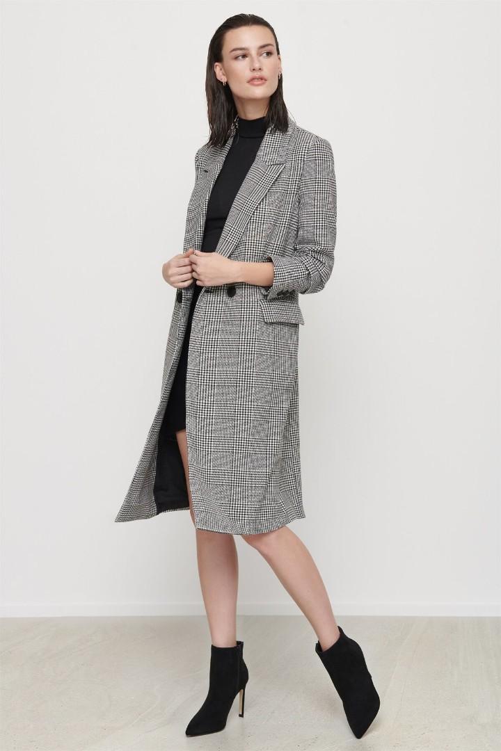 Dynamite checked/tailored coat