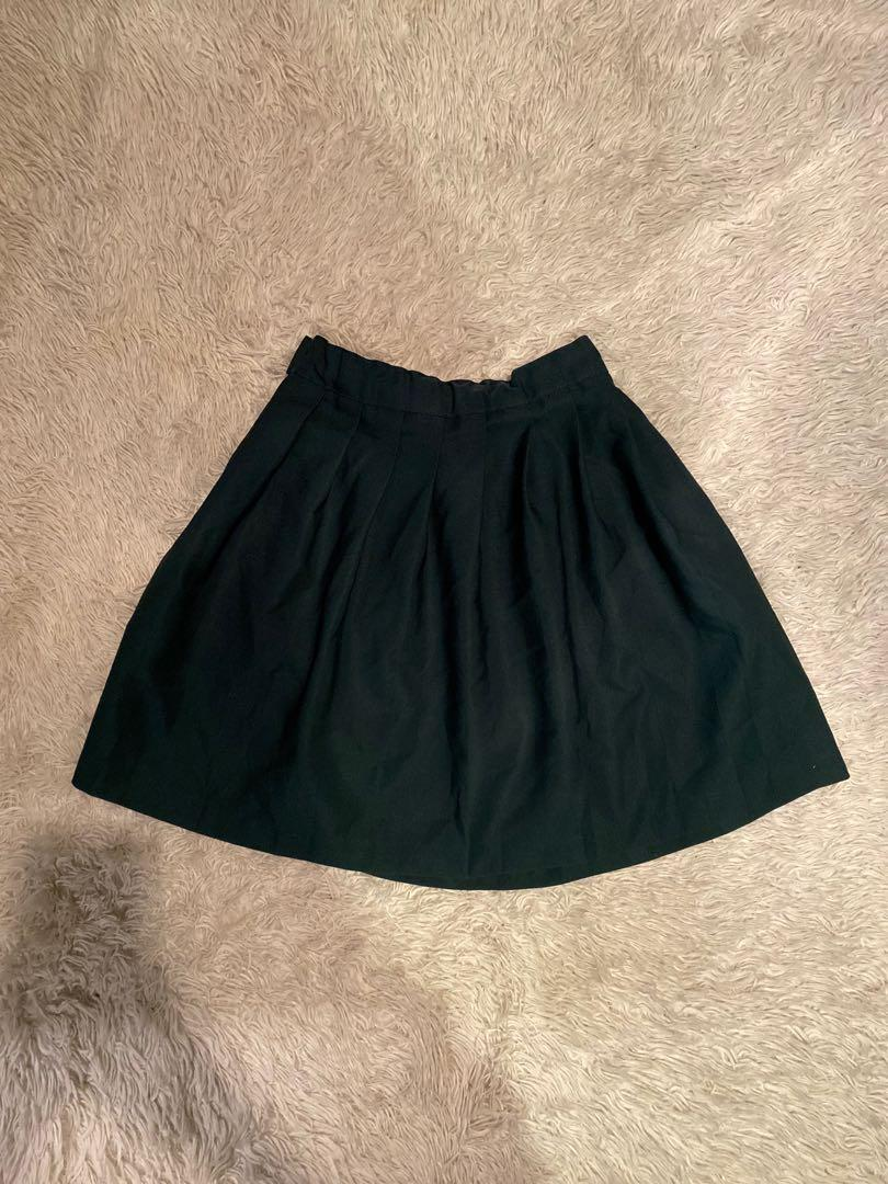 French Toast Pleated Mini Skirt | Green | Size 7