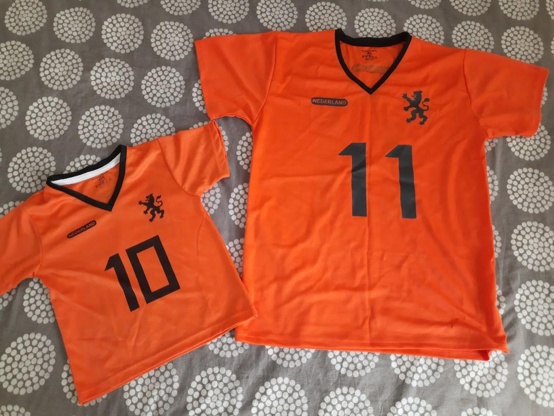 Netherlands Jersey Father and Son set. Like New!