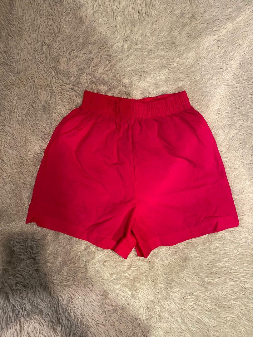 Pacific Connections Retro Shorts   Hot Pink   Size M