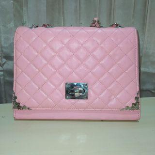 Pink Bag with Adjustable Strap