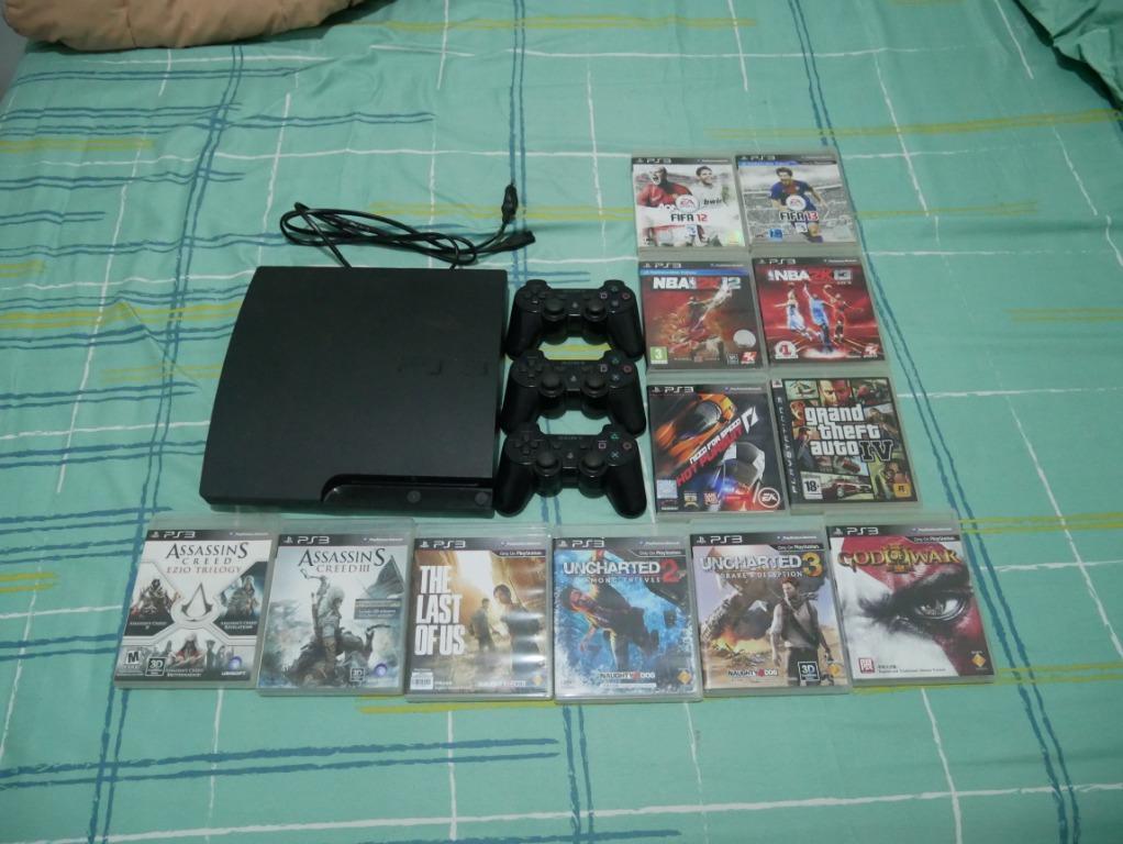 PS 3 Slim second OFW 3 dualshock + game