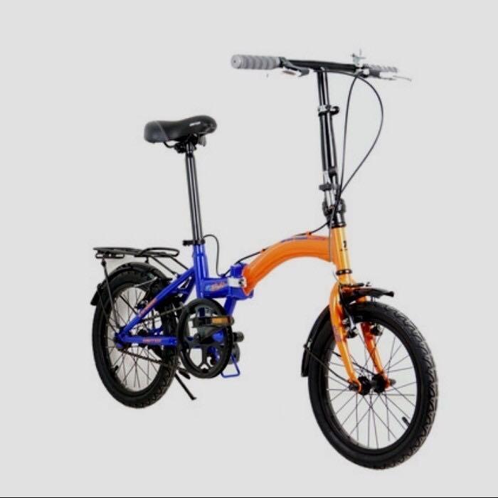 Sepeda Lipat United Bike Stylo 16 inch orange blue
