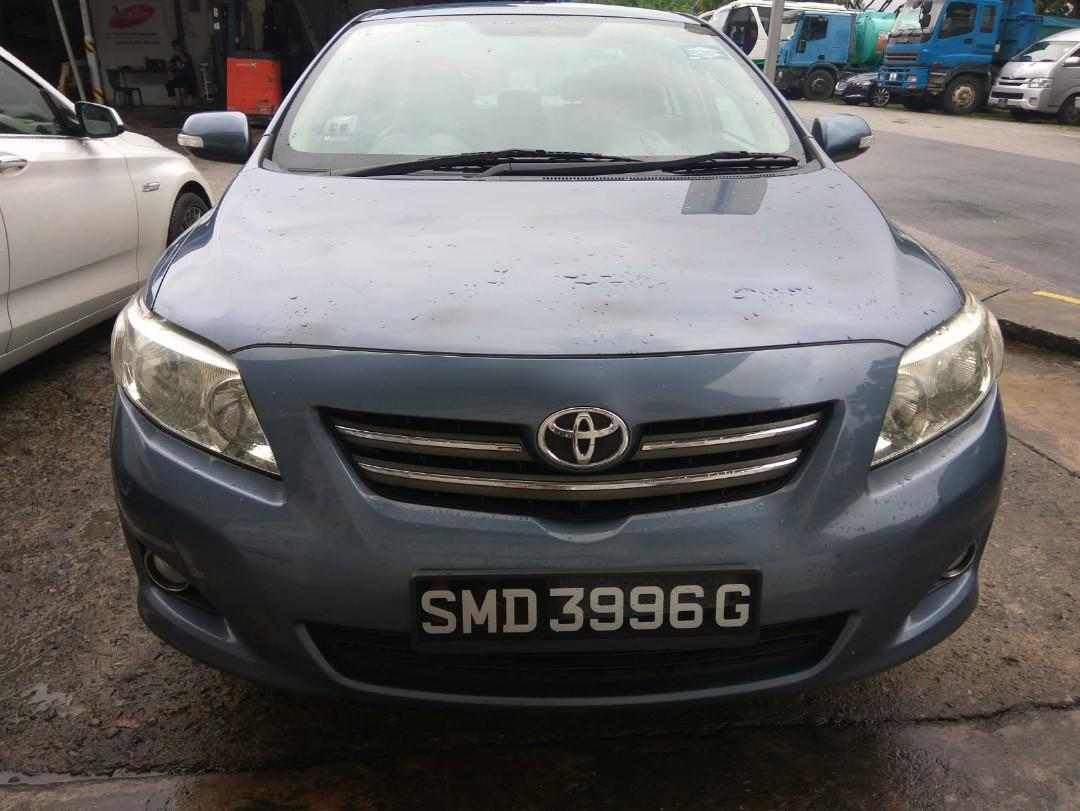 Toyota Corolla Altis 1.6 Auto for short and long term rental