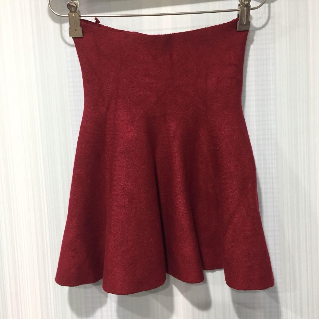 817#單身狗免費紅色伸縮傘裙