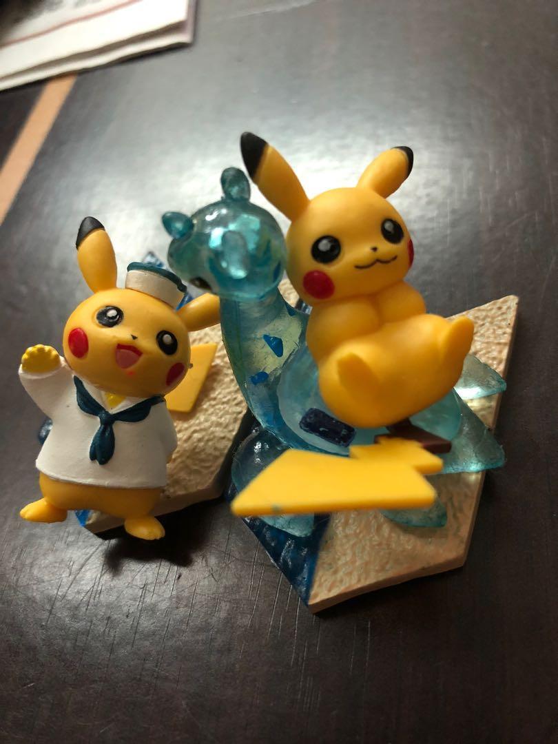 免費 皮卡丘 夏日沙灘 海軍衣  神奇寶貝 寶可夢 收藏玩具 公仔  限定盒玩 無盒 瑕疵 缺件