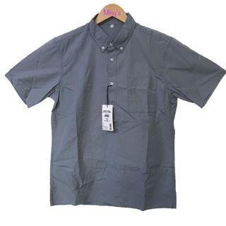 無印良品 MUJI Labo有機棉平織布短袖套衫