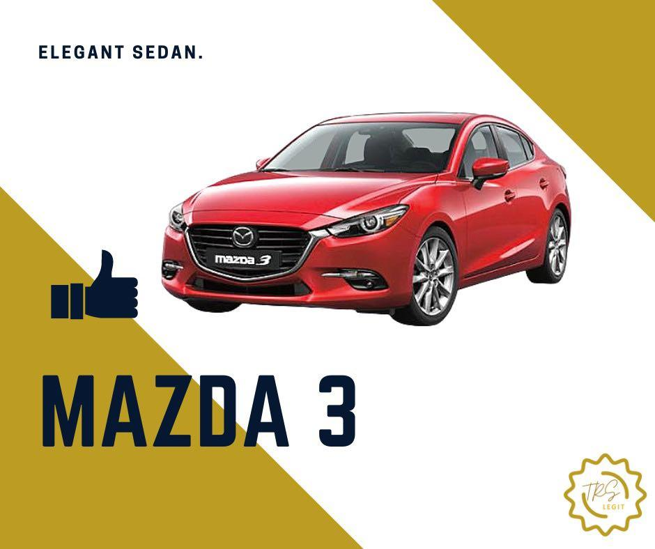CAR RENTAL PROMOTION - MAZDA 3 AND MORE!