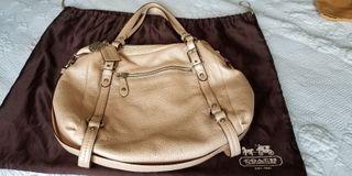 Coach light pink pearlescent bag
