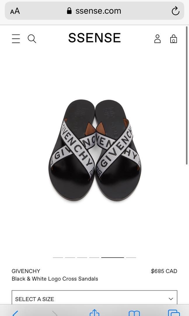 Givenchy Logo across Sandals