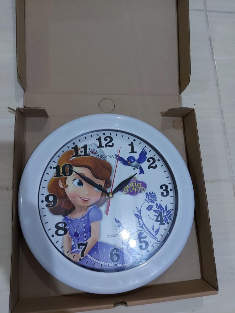 Jam Dinding anak jam sofia jam anak (baru)