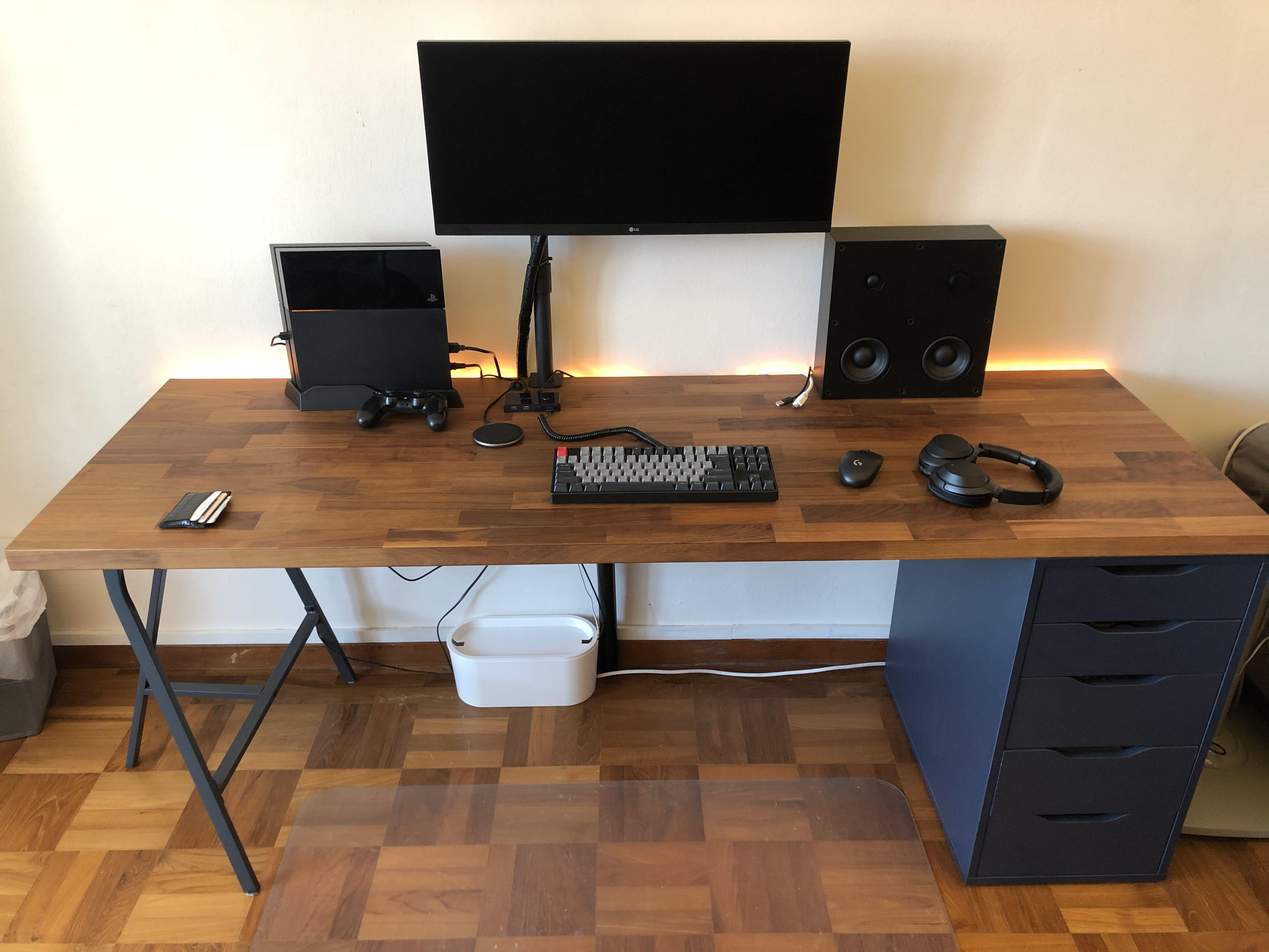 Karlby Desk With Alex Drawer Set Up Furniture Tables Chairs On Carousell