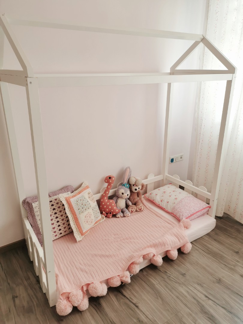 Kids Children Wooden Bed Frame Furniture Beds Mattresses On Carousell