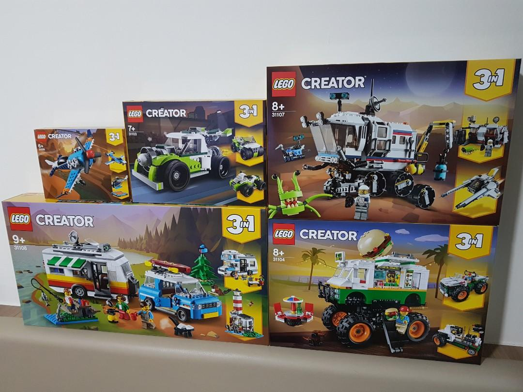 Lego Creator 3in1 31107 Space Rover Explorer 31104 Monster Burger Truck Toys Games Bricks Figurines On Carousell