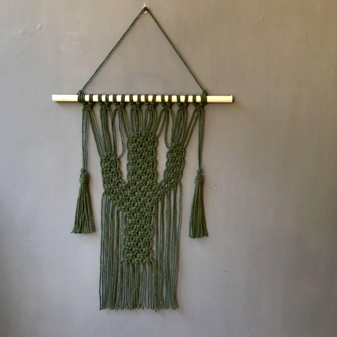 Makrame wall hanging