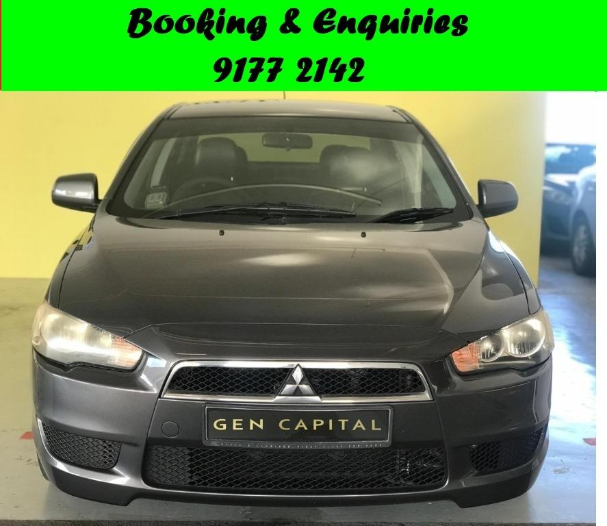Mitsubishi Lancer EX.1st month Promo while stock last.Cheap Car Rental. $500 deposit only. Whatsapp 9177 2142 to reserve. LAST UNIT