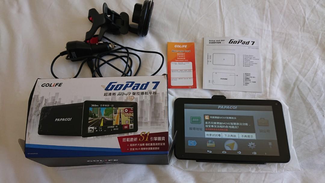 【PAPAGO】GOLiFE GoPad 7聲控導航平板 超清晰Wi-Fi/Android/7吋大螢幕/最新S1圖資