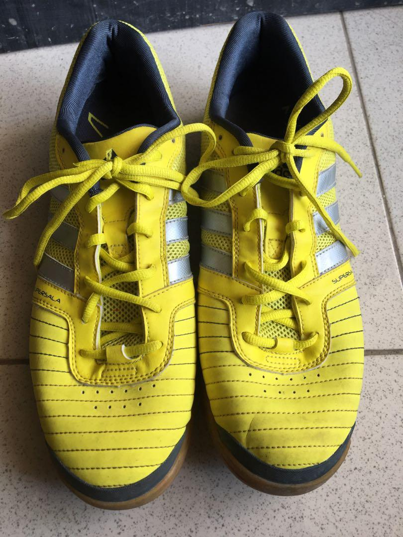 sepatu futsal Adidas Mens Rare SuperSala IX V23835 Yellow Grey Indoor Soccer