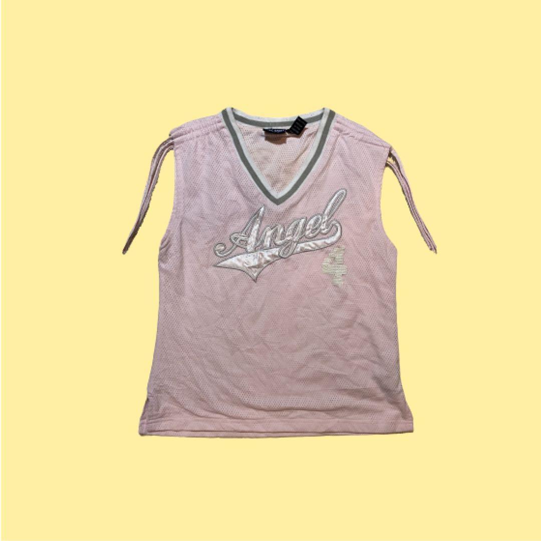 Spy C Sport Angel Jersey Tank Top | Pink | Size L