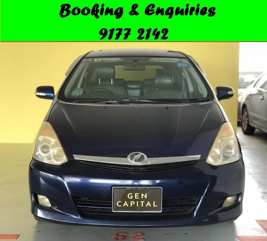 Toyota Wish. 1st month Promo while stock last.Cheap Car Rental. $500 deposit only. Whatsapp 9177 2142 to reserve. LAST UNIT