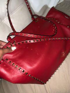 Valentino red large purse rockstud