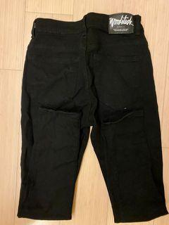 Woodstuck 黑色 破褲 長褲