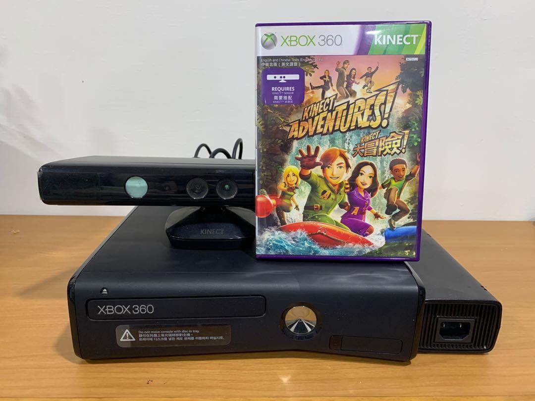 九成新XBOX 360 + Kinect + 大冒險 (缺手把)