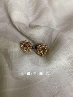 淡雅夾式耳環
