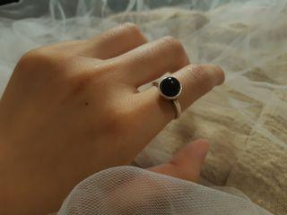 可調戒圍之黑瑪瑙戒指