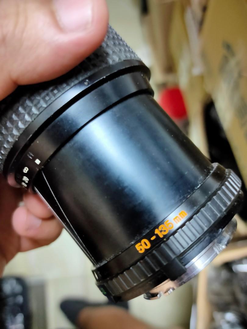 鏡頭 稀有 手動。md mc minolta 50 135mm f3.5 恆定光圈 含保護鏡 無前後蓋