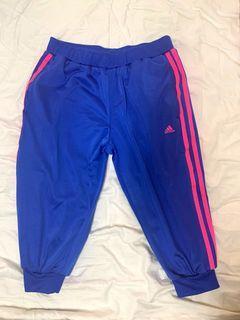 愛迪達adidas藍色五分褲