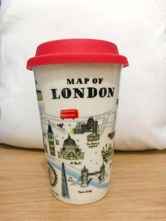 ALICE LAIT map of London mug with cap