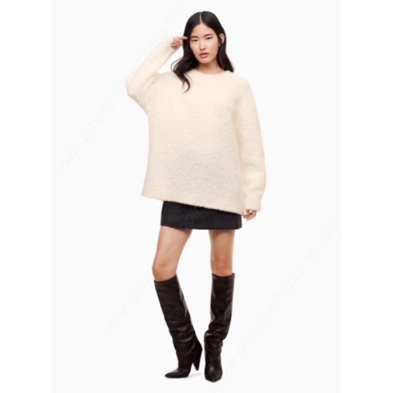 Aritzia xs Wilfred Sweater Alpaca Wool White Oversize