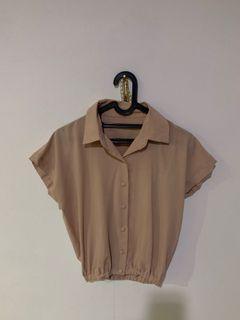 h&m pull&bear stradivarius blouse atasan korea / nude pink top / kemeja shirt zara h&m