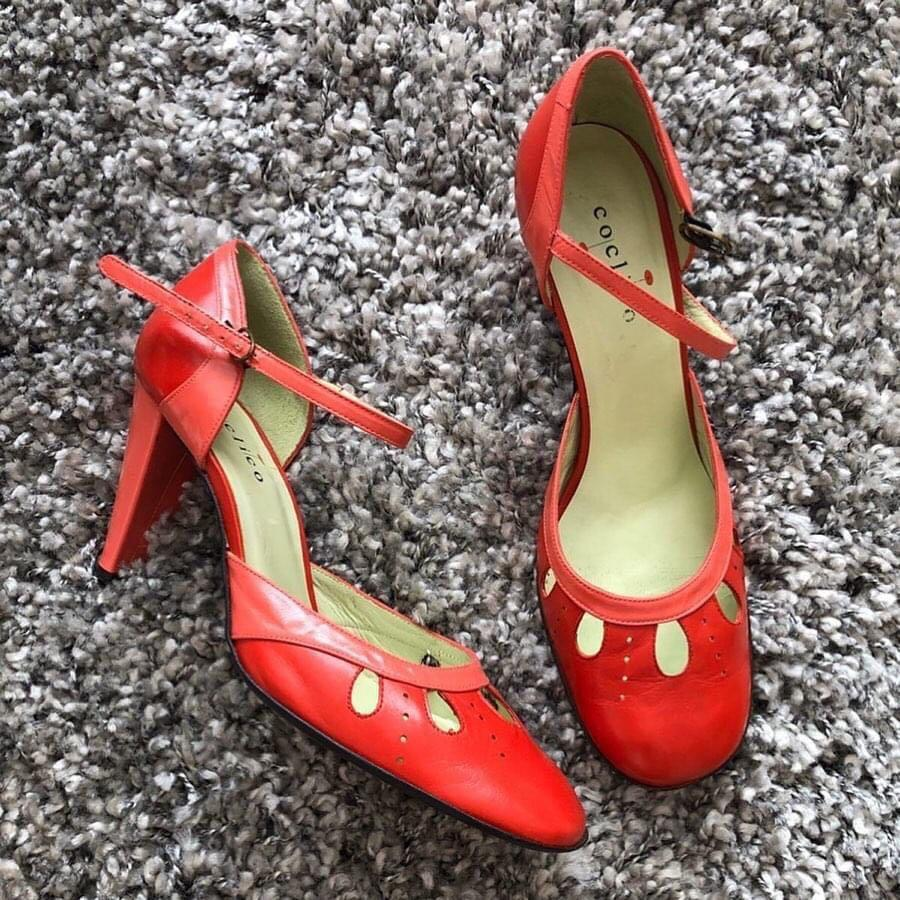 Coclico Mary Jane Red Heels